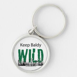 Keep Baldy Wild Key Chain