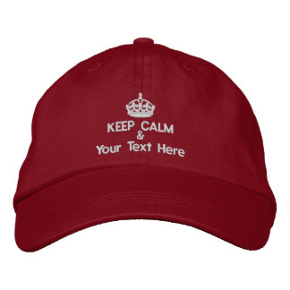 Keep Calm and add your own text Embroidered Hat