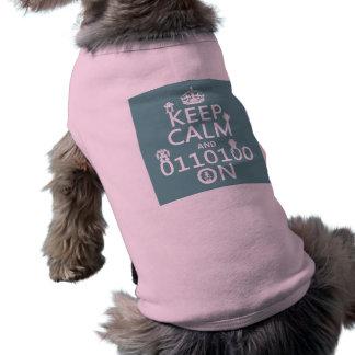 Keep Calm and (Binary) On (robots)(any color) Shirt