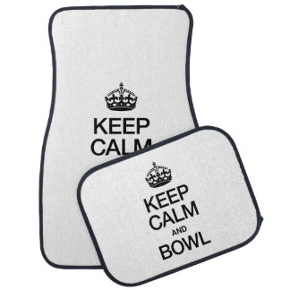 KEEP CALM AND BOWL CAR MAT