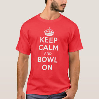 """""""Keep Calm and Bowl On"""" Coloured T-shirt (Men's)"""