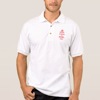 """Keep Calm and Bowl On"" Polo Shirt"
