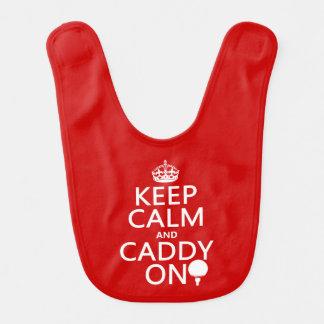 Keep Calm and Caddy On, Golf. Bib