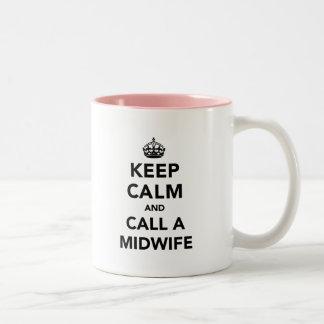 Keep Calm and Call a Midwife Two-Tone Mug