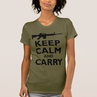 Keep Calm and Carry - 2nd Amendment - AR15 Tees