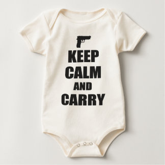 Keep Calm and Carry Baby Bodysuit