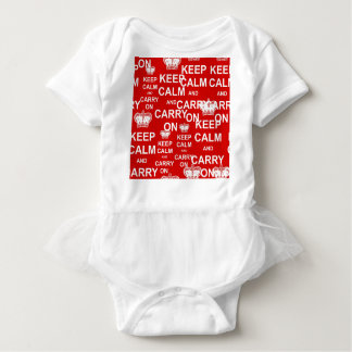 Keep Calm and Carry On Baby Bodysuit