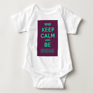 Keep Calm and Carry On Be Swag Sunglasses Baby Bodysuit