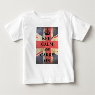 keep calm and carry on england baby T-Shirt