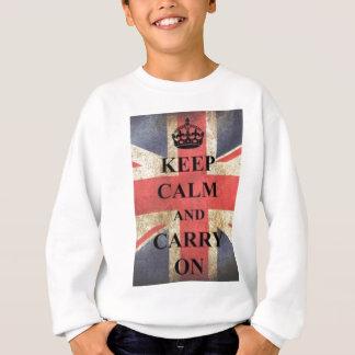 keep calm and carry on england sweatshirt