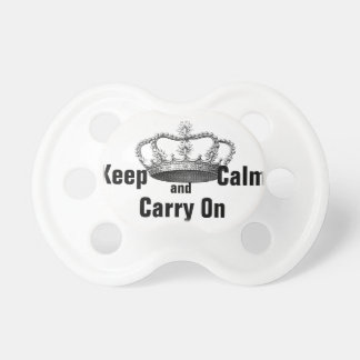 Keep Calm and Carry On for Baby Pacifiers