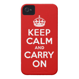 Keep Calm and Carry on iPhone 4 Case