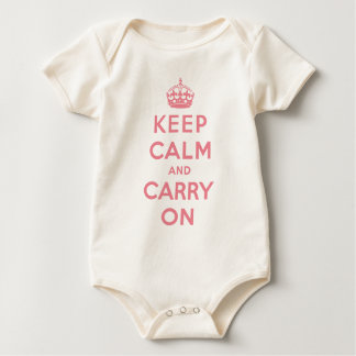 keep calm and carry on Original Baby Bodysuit