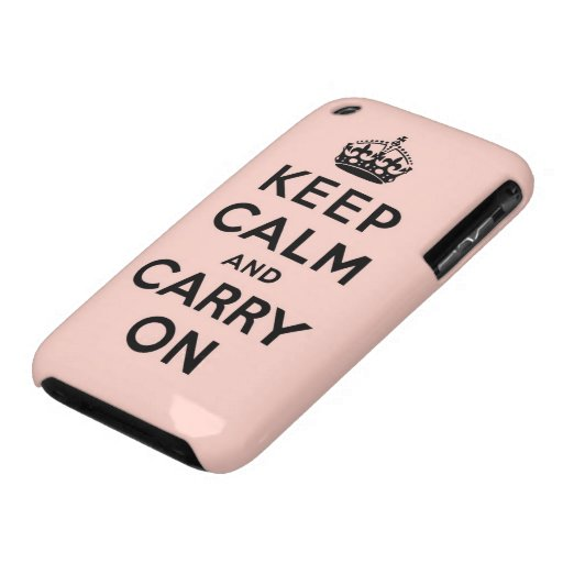 keep calm and carry on Original iPhone 3 Covers