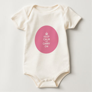 Keep Calm and Carry On Spring Pink Baby Bodysuit