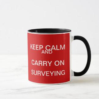 Keep Calm and Carry on Surveying - Surveyor Gift Mug