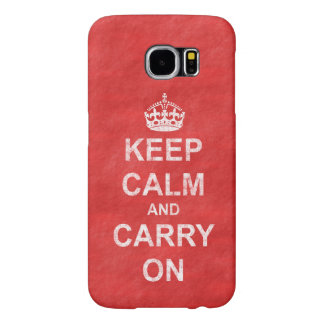 Keep Calm and Carry On Vintage Distressed Samsung Galaxy S6 Cases