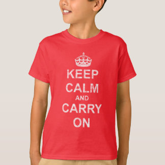 Keep Calm and Carry On Vintage T-Shirt