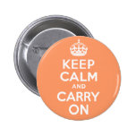 Keep Calm And Carry On. White. Best Price! Badges
