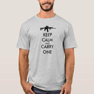 Keep Calm and Carry One AR15 T-Shirt
