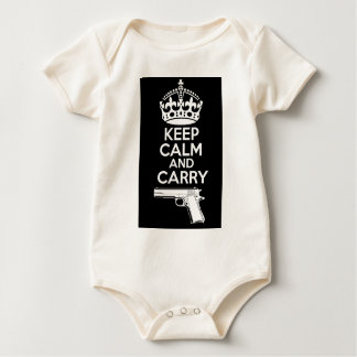 Keep Calm And Carry One Quote Baby Bodysuit