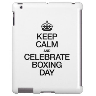 KEEP CALM AND CELEBRATE BOXING DAY iPad CASE