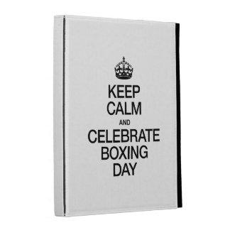 KEEP CALM AND CELEBRATE BOXING DAY iPad FOLIO CASE