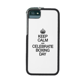 KEEP CALM AND CELEBRATE BOXING DAY iPhone 5/5S COVERS