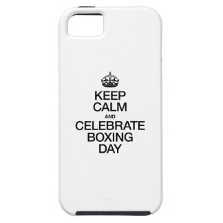 KEEP CALM AND CELEBRATE BOXING DAY iPhone 5 COVERS