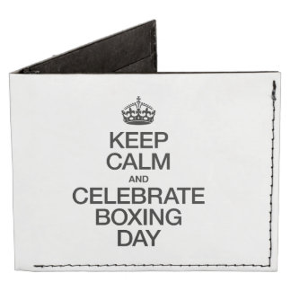 KEEP CALM AND CELEBRATE BOXING DAY TYVEK WALLET