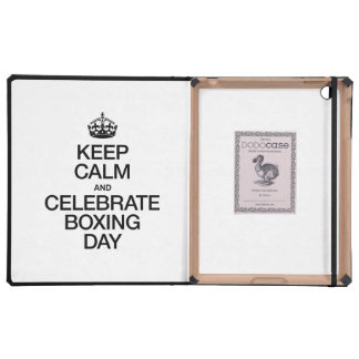 KEEP CALM AND CELEBRATE BOXING DAY iPad COVER