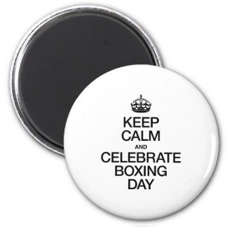 KEEP CALM AND CELEBRATE BOXING DAY REFRIGERATOR MAGNET