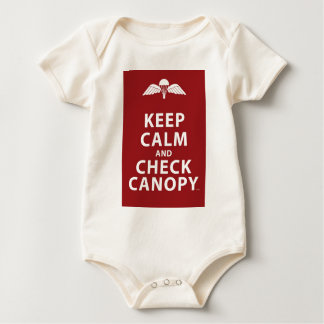 KEEP CALM AND CHECK CANOPY BABY BODYSUIT