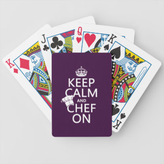 Keep Calm and Chef On Bicycle Playing Cards