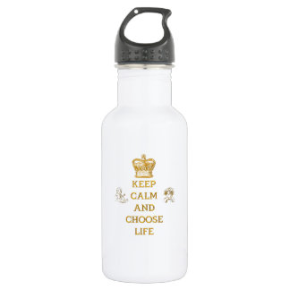 Keep Calm and Choose Life 532 Ml Water Bottle