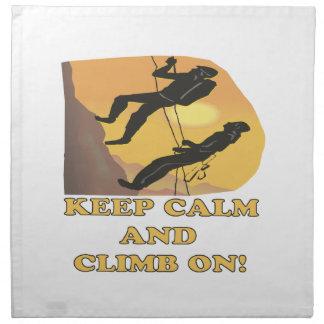 Keep Calm And Climb On Napkin