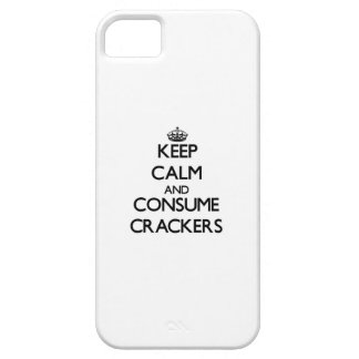 Keep calm and consume Crackers iPhone 5 Case