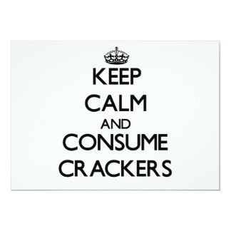 Keep calm and consume Crackers Invitations