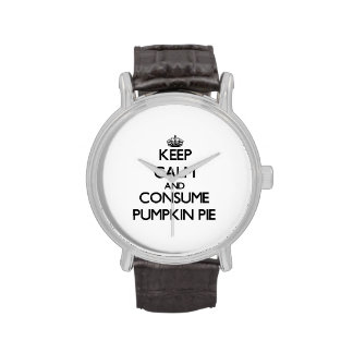 Keep calm and consume Pumpkin Pie Wristwatch