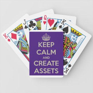 Keep Calm and Create Assets Bicycle Playing Cards