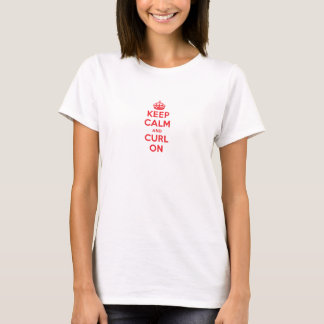 """""""Keep Calm and Curl On"""" (Crown) – Light (Women's) T-Shirt"""