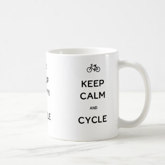 Keep Calm and Cycle Basic White Mug