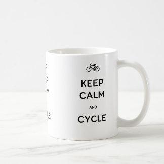 Keep Calm and Cycle Coffee Mugs