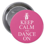 Keep Calm and Dance On Ballerina Shoes Pink