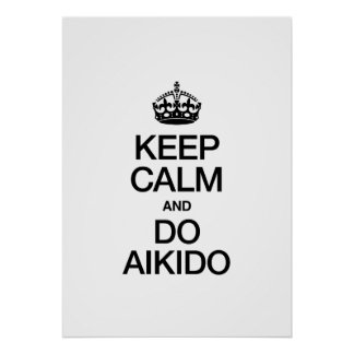 KEEP CALM AND DO AIKIDO POSTER