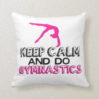 Keep Calm and Do Gymnastics Cushion