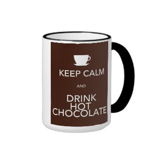 Keep Calm and Drink Hot Chocolate Ringer Mug