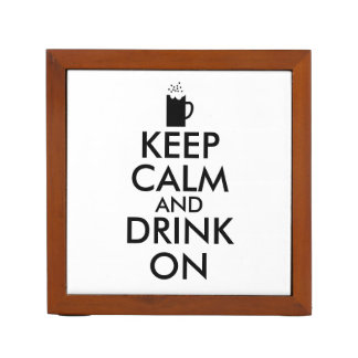 Keep Calm and Drink On Beer Soda Root Beer Lovers Desk Organiser