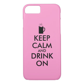 Keep Calm and Drink On Beer Soda Root Beer Lovers iPhone 8/7 Case