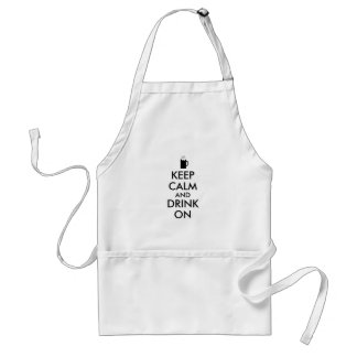 Keep Calm and Drink On Beer Soda Root Beer Lovers Standard Apron